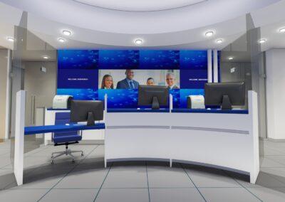 U.S Century One Bank  Aventura. FL   Interior Concept