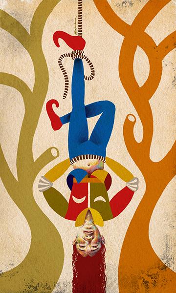 The Hanged Man | El Colgado | Kalma Tarot | By Karoll William