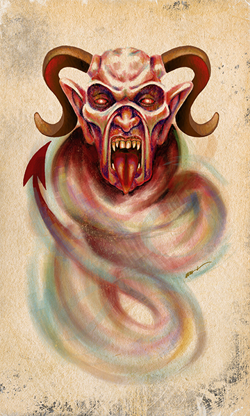 The Devil | El Diablo | Kalma Tarot | By Karoll William
