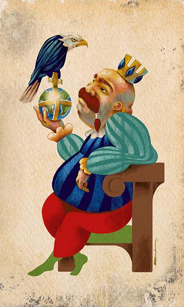 The Emperor | El Emperador | Kalma Tarot | By Karoll William
