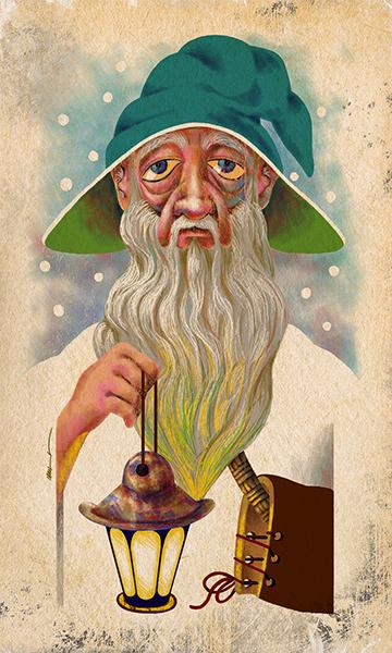 The Hermit | El Ermitaño | Kalma Tarot | By Karoll William