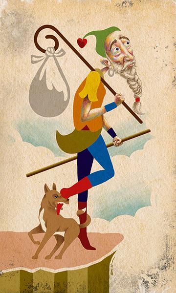 The Fool | El Loco | Kalma Tarot | By Karoll William