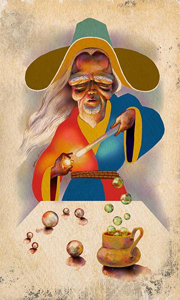 The Magician | El Mago | Kalma Tarot | By Karoll William