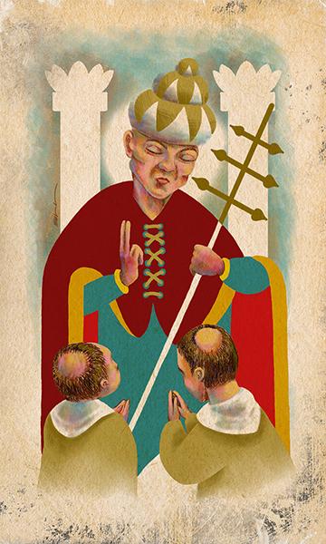 The Hierophant | El Papa | Kalma Tarot | By Karoll William
