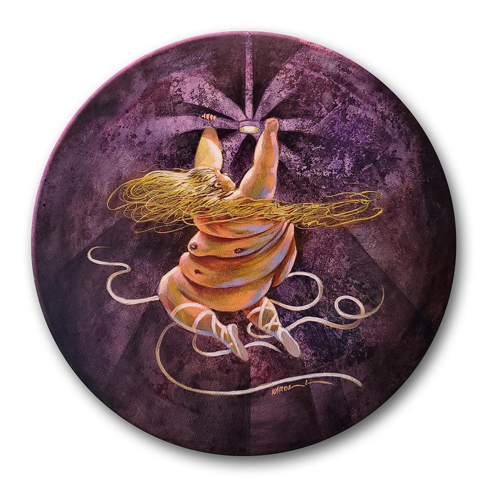 The Fan   El Ventilador   Acrylic on Canvas