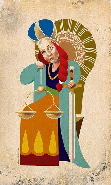 The Justice | La Justicia | Kalma Tarot | By Karoll William