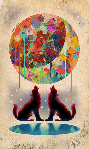 The Moon | La Luna | Kalma Tarot | By Karoll William