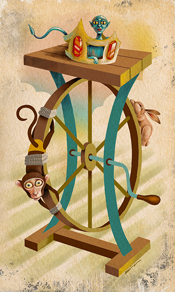 The Wheel of Fortune | La Rueda de la Fortuna | Kalma Tarot | By Karoll William