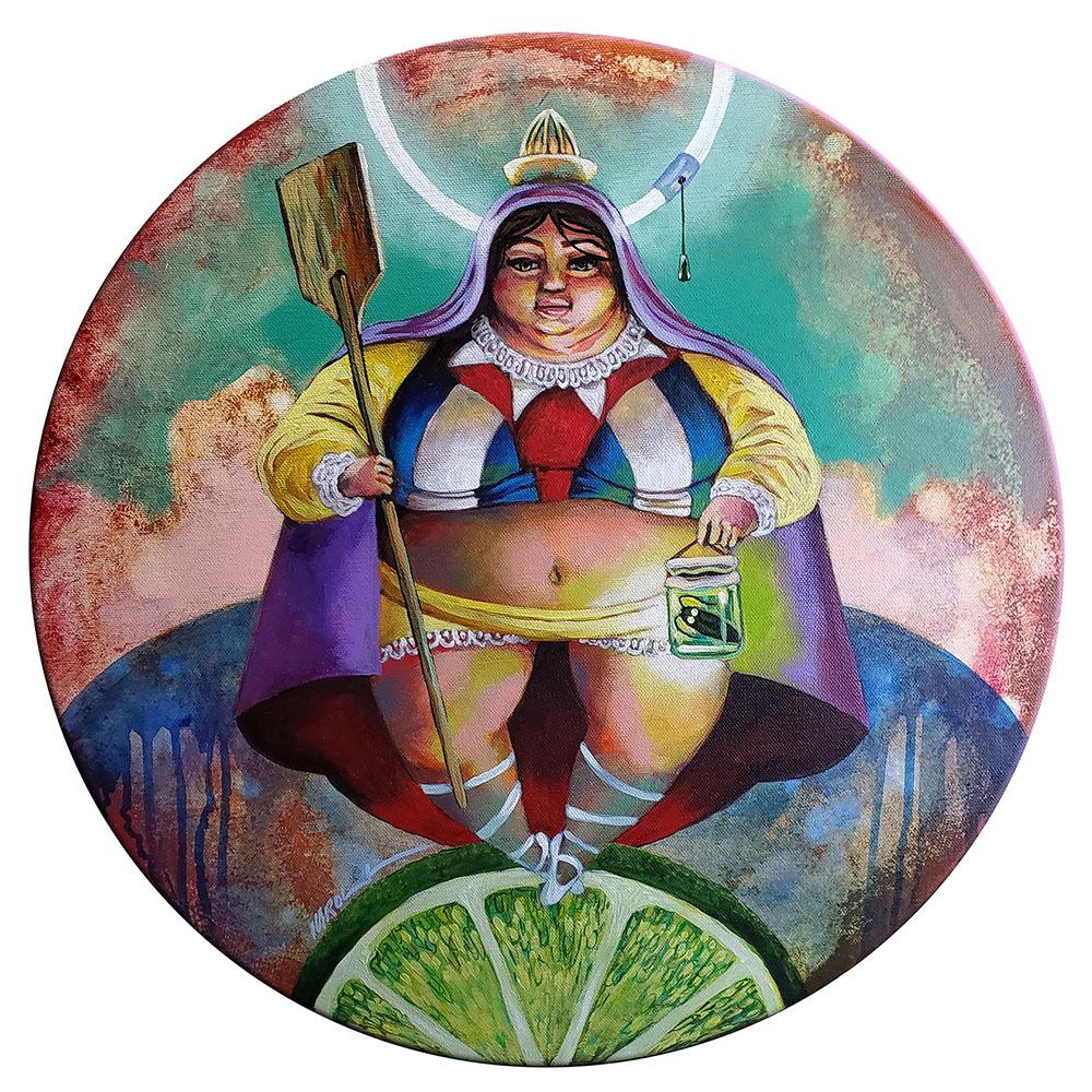 Cachita con limón | Acrylic on Canvas