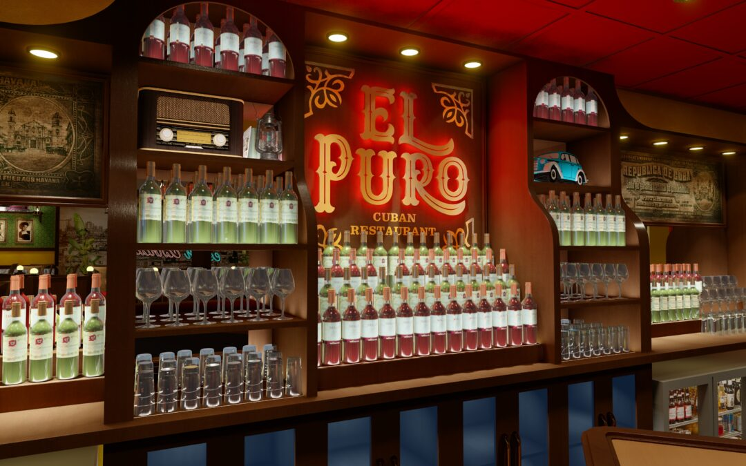El Puro Cuban Restaurant   Interior Design Concept